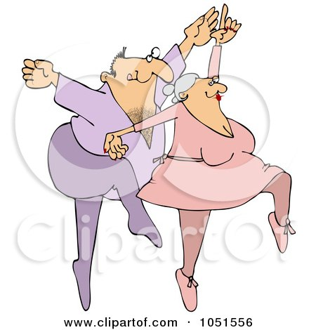 Royalty-Free Vector Clip Art Illustration of a Man And Woman Dancing Ballet by djart