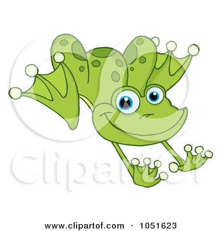 Leaping Green Frog Posters, Art Prints