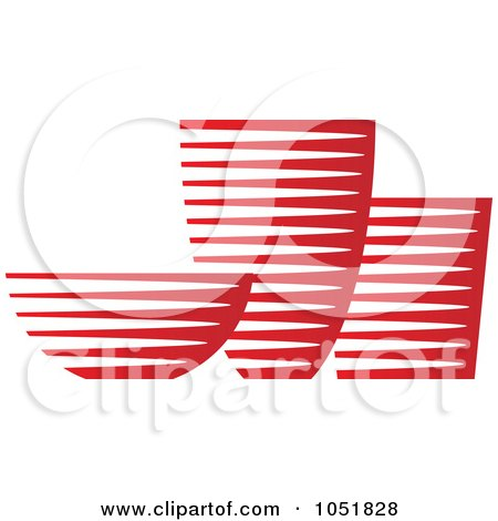 Royalty-Free Vector Clip Art Illustration of a Red Pottery Logo by Eugene