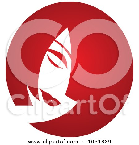 Red Hairstyle Salon Logo Posters, Art Prints