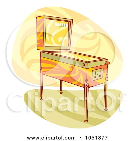 Royalty-Free Vector Clip Art Illustration of a Retro Pinball Arcade Machine by Any Vector