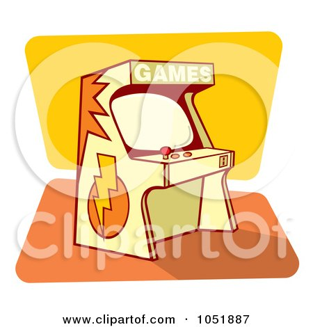 Royalty-Free Vector Clip Art Illustration of a Retro Game Arcade Machine by Any Vector