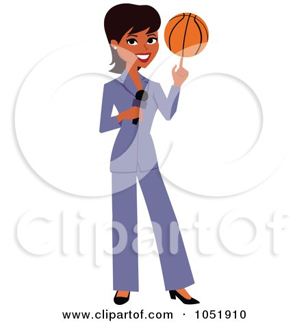 Black Female News Reporter Spinning A Basketball On Her Finger Posters, Art Prints