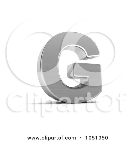 Royalty-Free 3d Clip Art Illustration of a 3d Chrome Alphabet Symbol; Letter G by stockillustrations