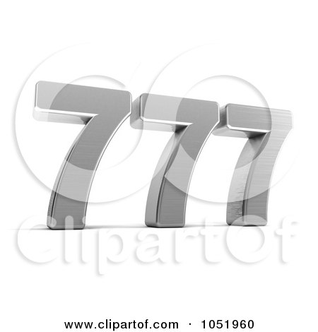 Royalty-Free 3d Clip Art Illustration of a 3d Lucky Triple Seven 777 by stockillustrations