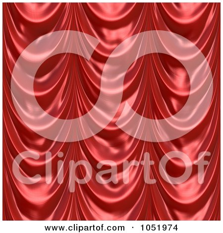 Royalty-Free 3d Clip Art Illustration of a 3d Red Drapery Cloth Background by Arena Creative