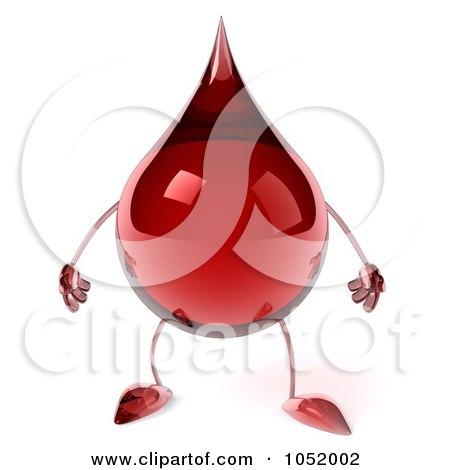 Royalty-Free 3d Clip Art Illustration of a 3d Blood Drop Character by Julos