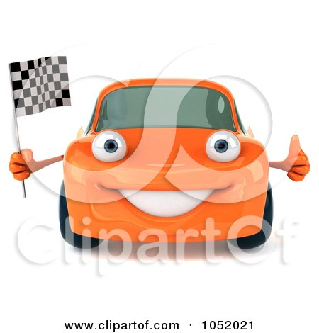 Free Clip  Auto Racing on Royalty Free 3d Clip Art Illustration Of A 3d Orange Porsche Character