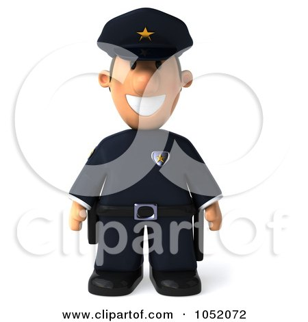 Royalty-Free 3d Clip Art Illustration of a 3d Sheriff Toon Guy by Julos
