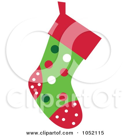 Royalty-Free Vector Clip Art Illustration of a Christmas Stocking by peachidesigns