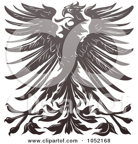 Royalty-Free Vector Clip Art Illustration of an Imperial Eagle Design by AtStockIllustration