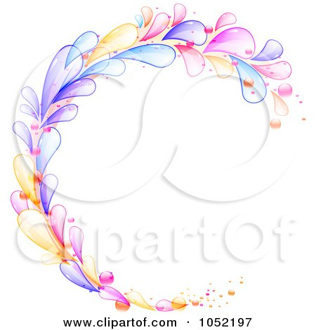 Royalty-Free Vector Clip Art Illustration of a Circular Frame Of Colorful Lava Drops by elaineitalia
