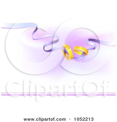 RoyaltyFree Vector Clip Art Illustration of Golden Wedding Bands On A