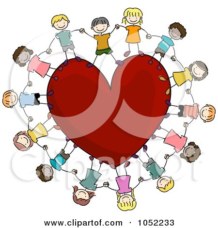 Cartoon Hands Holding a Heart Hands Holding Heart Clip Art