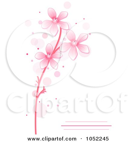 Royalty-Free Vector Clip Art Illustration of a Pink Floral Invitation With Copy Space by BNP Design Studio