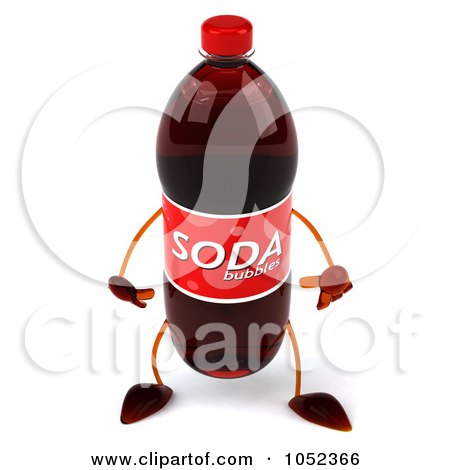 1052366-Royalty-Free-3d-Clip-Art-Illustration-Of-A-3d-Soda-Bottle ...