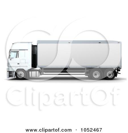 Royalty-Free 3d Clip Art Illustration of a 3d Euro HGV Trailer - 5 by KJ Pargeter