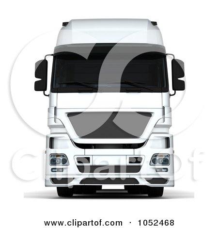 Royalty-Free 3d Clip Art Illustration of a 3d Euro HGV Trailer - 2 by KJ Pargeter