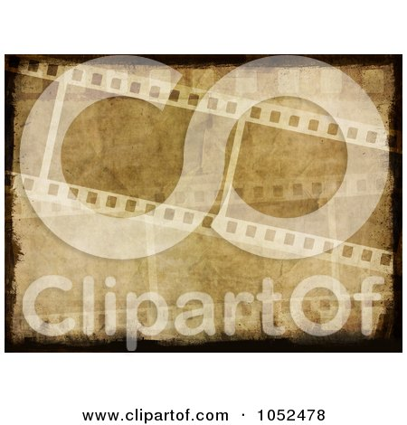 Royalty-Free 3d Clip Art Illustration of a Grungy Film Strip Background by KJ Pargeter
