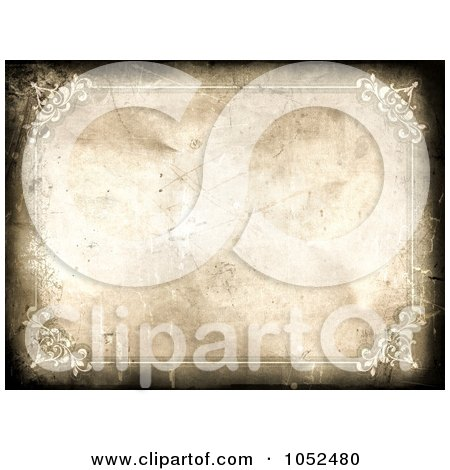 Royalty-Free 3d Clip Art Illustration of a Grungy Antique Certificate Background by KJ Pargeter