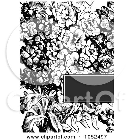 black and white flower clip art free. Royalty-free clipart