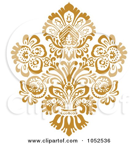 Royalty-Free (RF) Clipart of Damask Designs, Illustrations, Vector ...