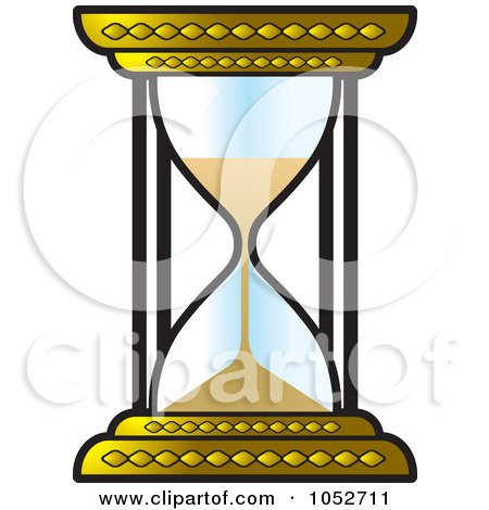 Royalty-Free Vector Clip Art Illustration of a Gold Hourglass by Lal Perera