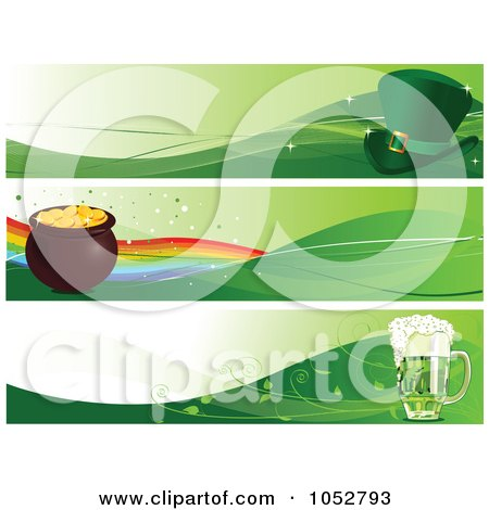 Royalty-Free Vector Clip Art Illustration of a Digital Collage Of St Patricks Day Banners by Pushkin