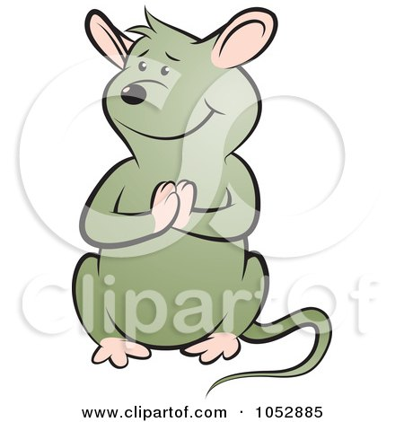 Royalty-Free Vector Clip Art Illustration of a Begging Mouse - 1 by Lal Perera
