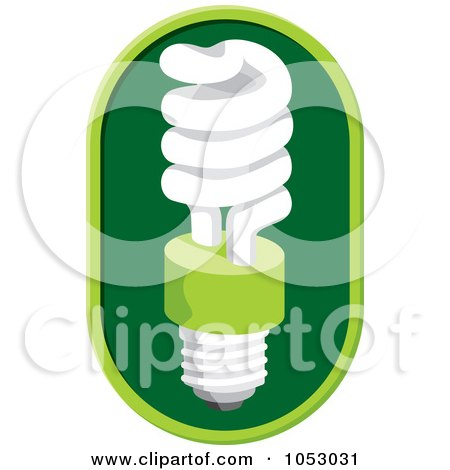 Royalty-Free Vector Clip Art Illustration of a Fluorescent Spiral Light Bulb - 1 by Any Vector