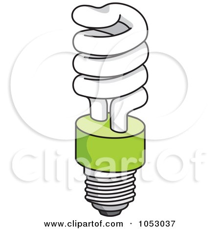Royalty-Free Vector Clip Art Illustration of a Fluorescent Spiral Light Bulb - 2 by Any Vector