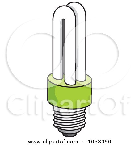 Royalty-Free Vector Clip Art Illustration of a Fluorescent Light Bulb - 2 by Any Vector