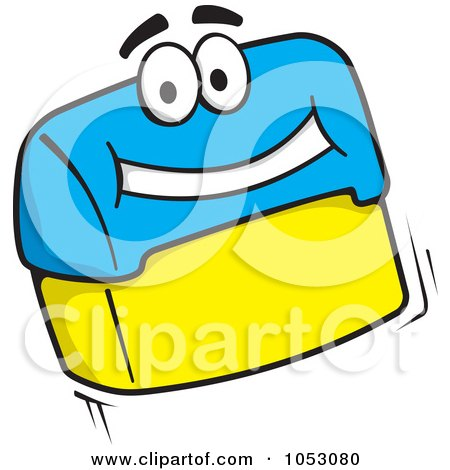 Royalty-Free Vector Clip Art Illustration of a Flip Rubber Stamp Character by Any Vector