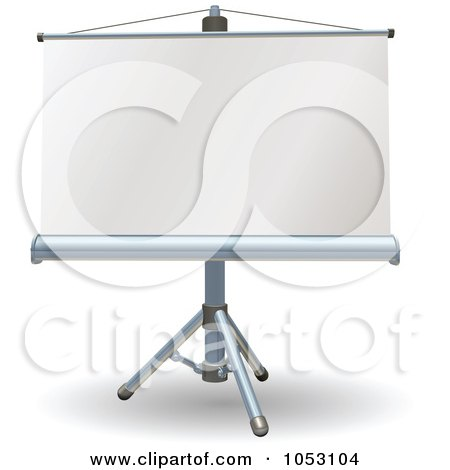 Royalty-Free Vector Clip Art Illustration of a Blank Presentation Roller Screen by AtStockIllustration