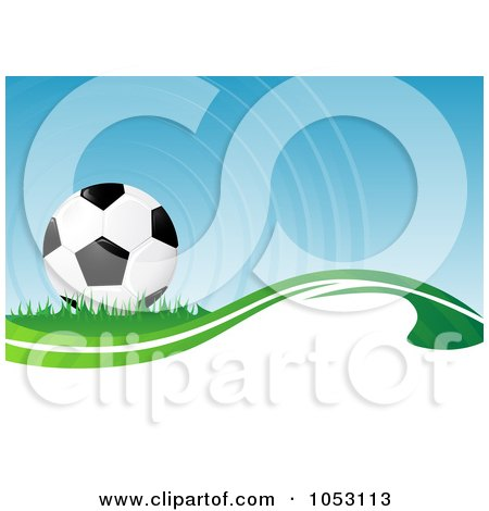 Royalty-Free 3d Vector Clip Art Illustration of a 3d Soccer Ball Background by MilsiArt