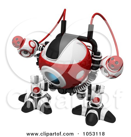 Royalty-Free 3d Clip Art Illustration of a 3d Web Crawler Robot Cam by Leo Blanchette
