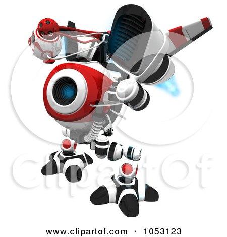 Royalty-Free 3d Clip Art Illustration of a 3d Vigilent Web Crawler Robot Cam by Leo Blanchette