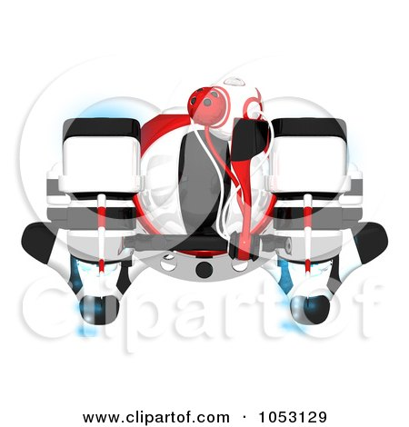 Royalty-Free 3d Clip Art Illustration of an Aerial View Of A 3d Web Crawler Robot Cam by Leo Blanchette
