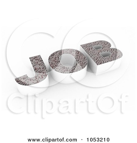 Royalty-Free 3d Clipart Illustration of a 3d Maze In The Shape Of JOB by stockillustrations