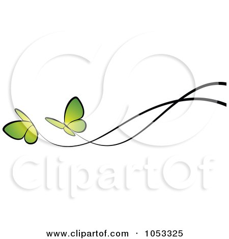 Tattoo design collection blue butterfly tattoo - Royalty Free Rf Clipart Of Green Butterflies