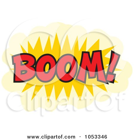 Royalty-Free Vector Clip Art Illustration of a Boom Comic Burst - 3 by Prawny