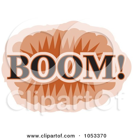Royalty-Free Vector Clip Art Illustration of a Boom Comic Burst - 1 by Prawny