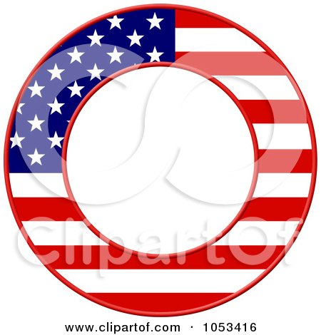 Royalty-Free Clip Art Illustration of a Round American Flag Border ...