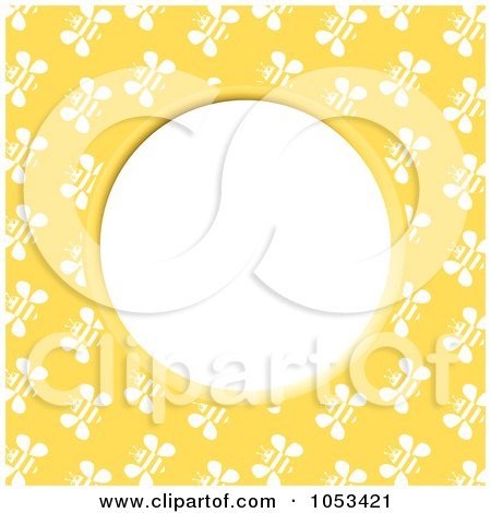 Royalty-Free Clip Art Illustration of a Bee Frame With White Space - 1 by Prawny