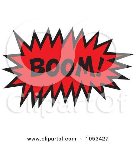 Royalty-Free Vector Clip Art Illustration of a Boom Comic Burst - 2 by Prawny