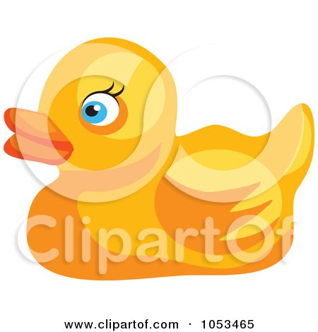 Royalty-Free Vector Clip Art Illustration of a Yellow Rubber Duck by Prawny