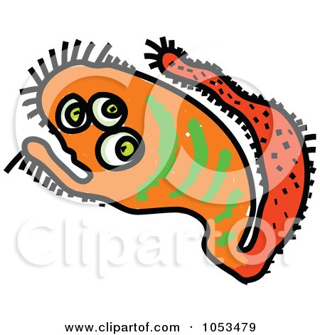Royalty-Free Vector Clip Art Illustration of a Cartoon Germ - 3 by Prawny