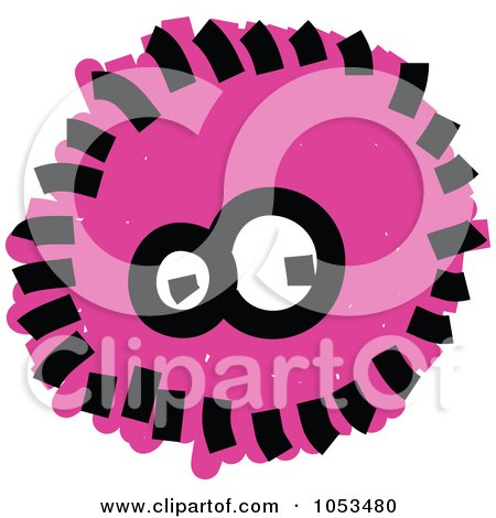 Royalty-Free Vector Clip Art Illustration of a Fluffy Pink Germ by Prawny