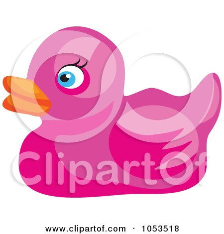 Royalty-Free Vector Clip Art Illustration of a Pink Rubber Duck by Prawny