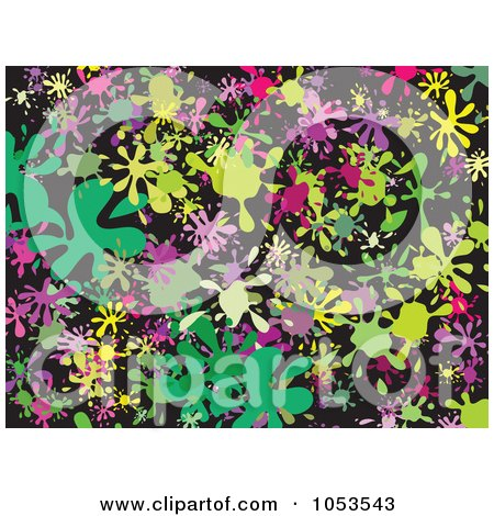 Royalty-Free Clip Art Illustration of a Background Pattern Of Splatters - 8 by Prawny